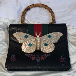 COPY - Gucci Falena Medium Moth Bamboo Top Handle…